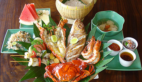Seafood at Jimbaran Bay