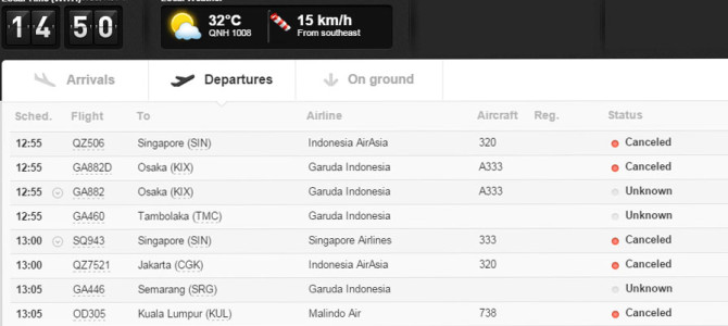 Bali Flight Cancellations