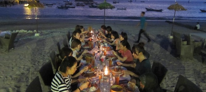 Beach Dinner With Ryubi Beauty School
