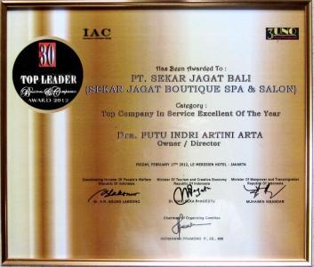 30 Top Leader Business & Companies Award 2012