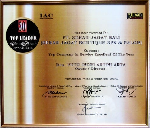 30 Top Leader Business & Companies Award 2012