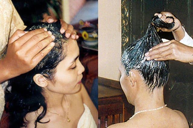 hair cream bath