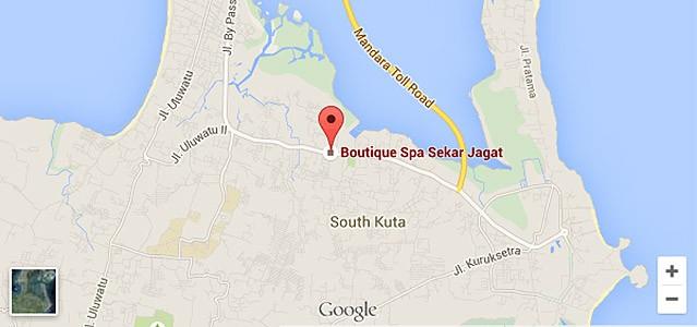 Map Sekar Jagat Spa Nusa Dua