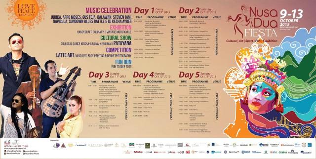 Nusa Dua Fiesta schedule