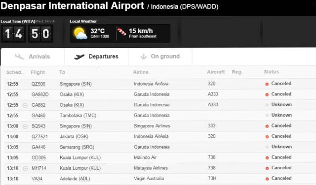 bali airport closed