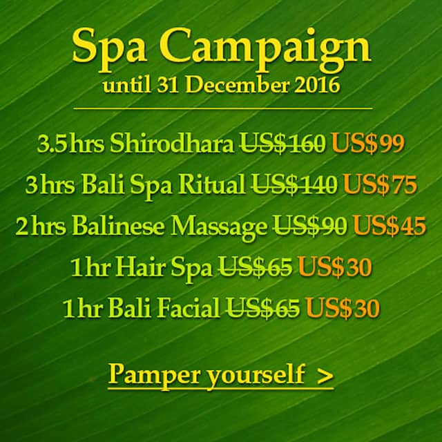 Bali spa campaign