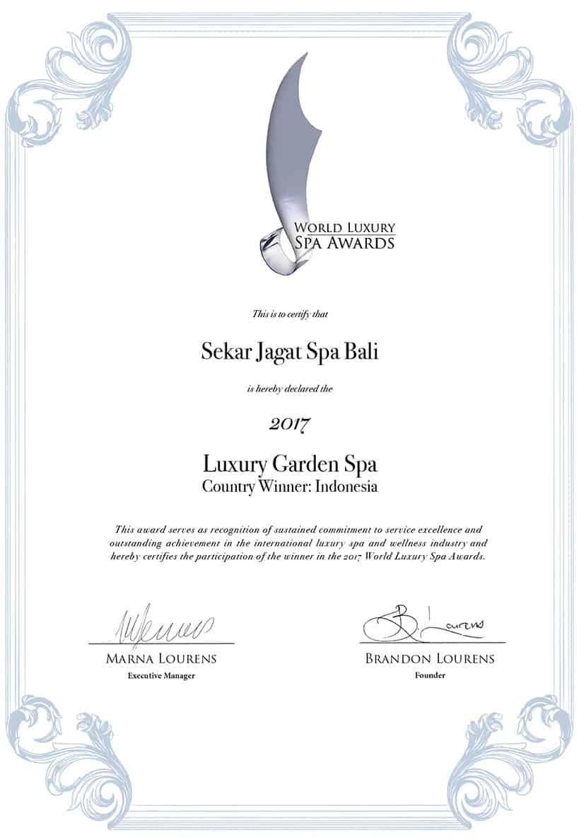 Luxury Garden Spa Award