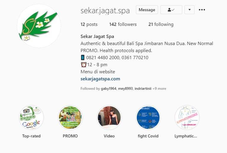 Instagram Bali Spa Nusa Dua